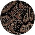 rug #589017 | round black rug
