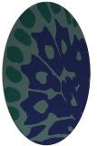 rug #591849   oval blue rug