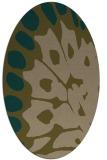 rug #591938 | oval abstract rug