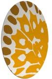 rug #592153 | oval light-orange rug