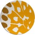 rug #592857 | round light-orange rug