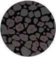rug #596049 | round black rug