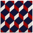 rug #596985 | square red rug