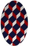 rug #597337 | oval red rug