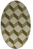 rug #597429 | oval light-green rug