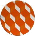 rug #598069 | round red-orange rug