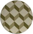 rug #598133 | round light-green rug