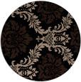 rug #599573 | round black damask rug