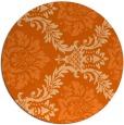rug #599821 | round red-orange rug