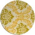 rug #599849 | round yellow rug