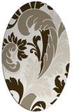 rug #600617 | oval damask rug