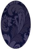rug #600701   oval blue-violet rug