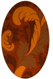 rug #600873 | oval red-orange rug