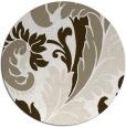 rug #601321 | round white rug