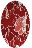 rug #602625 | oval red rug
