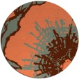 rug #610321 | round red-orange rug