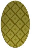 rug #613257 | oval light-green rug
