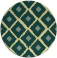 rug #613845 | round blue-green rug