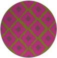 rug #613969   round pink rug
