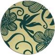 rug #619125 | round yellow rug