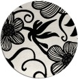 rug #619193 | round black rug