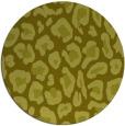rug #624521 | round light-green rug