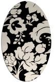 rug #628854 | oval damask rug