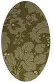 rug #629109 | oval light-green rug