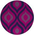 rug #633029 | round blue rug