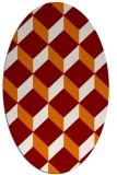 rug #636009 | oval orange rug