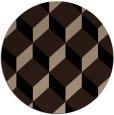 rug #636533 | round black rug