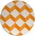 rug #636865   round light-orange rug