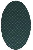 rug #637705 | oval green rug