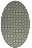 rug #637760 | oval check rug