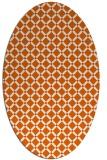 rug #637847 | oval check rug