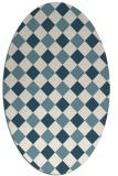 rug #639363 | oval check rug