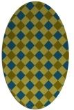 rug #639398 | oval check rug