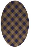 rug #639446 | oval check rug