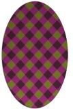 rug #639565 | oval check rug