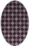 rug #639576   oval check rug