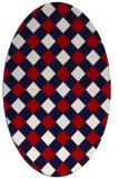 rug #639577 | oval red rug