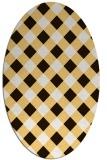 rug #639633 | oval brown rug