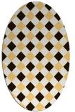 rug #639635 | oval check rug