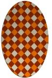 rug #639654   oval check rug