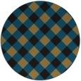 rug #640061 | round black rug