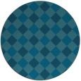 rug #640093 | round blue-green rug