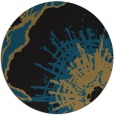 rug #647101 | round black abstract rug