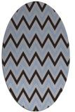 rug #648249 | oval blue-violet rug