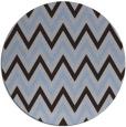 rug #648953 | round blue-violet rug