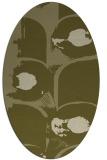 rug #651989 | oval light-green rug